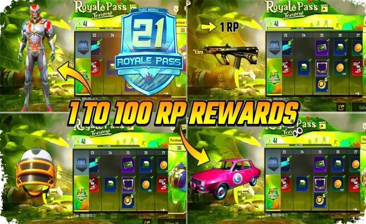PUBG Mobile C1S2 M1 Royal Pass Rewards