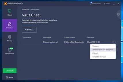 Discord installation failed due to antivirus