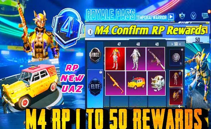PUBG Mobile C1S2 M4 Royal Pass Rewards Leaks Release Date